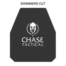 Chase Tactical Hard Trauma Armor Insert (Pistol) Swimmers Cut - HCC Tactical