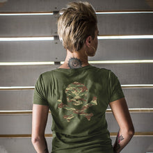 Pipe Hitters Union Hitter in the Mist Tee V-Neck Green Back - HCC Tactical