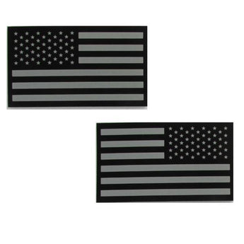 Black / Grey; Agilite IR US Flag Patches - HCC Tactical