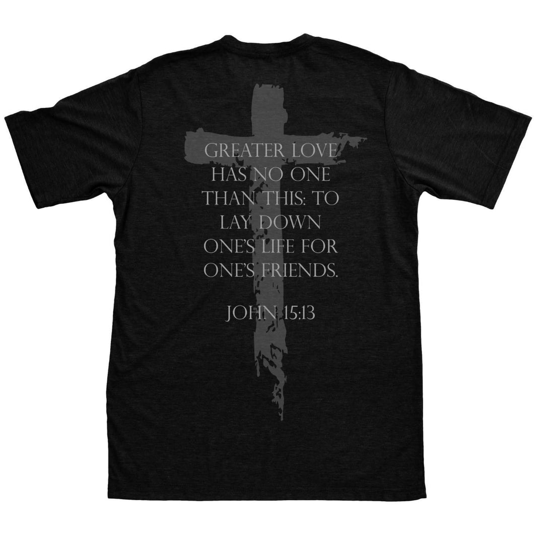 alt - Black; Pipe HItters Union John 15:13 Tee - HCC Tactical