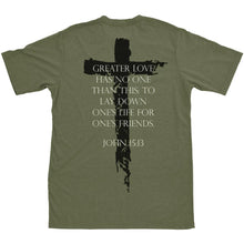 alt - Military Green; Pipe HItters Union John 15:13 Tee - HCC Tactical