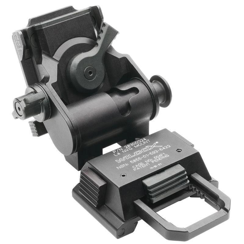 Black; Wilcox L4 G24 NVG Helmet Mount - HCC Tactical