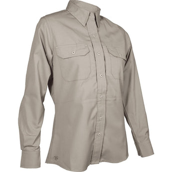 Khaki; Tru-Spec LS Dress Shirt for Women - HCC Tactical
