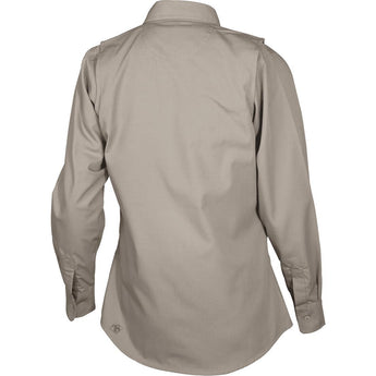 alt - Khaki; Tru-Spec LS Dress Shirt for Women - HCC Tactical