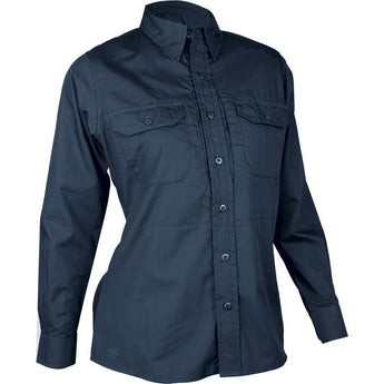 Navy; Tru-Spec LS Dress Shirt for Women - HCC Tactical