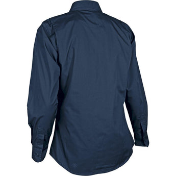alt - Navy; Tru-Spec LS Dress Shirt for Women - HCC Tactical