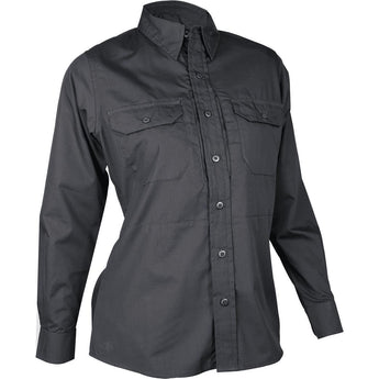 Black; Tru-Spec LS Dress Shirt for Women - HCC Tactical