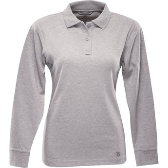 Heather Gray; Tru-Spec LS Original Polo for Women - HCC Tactical