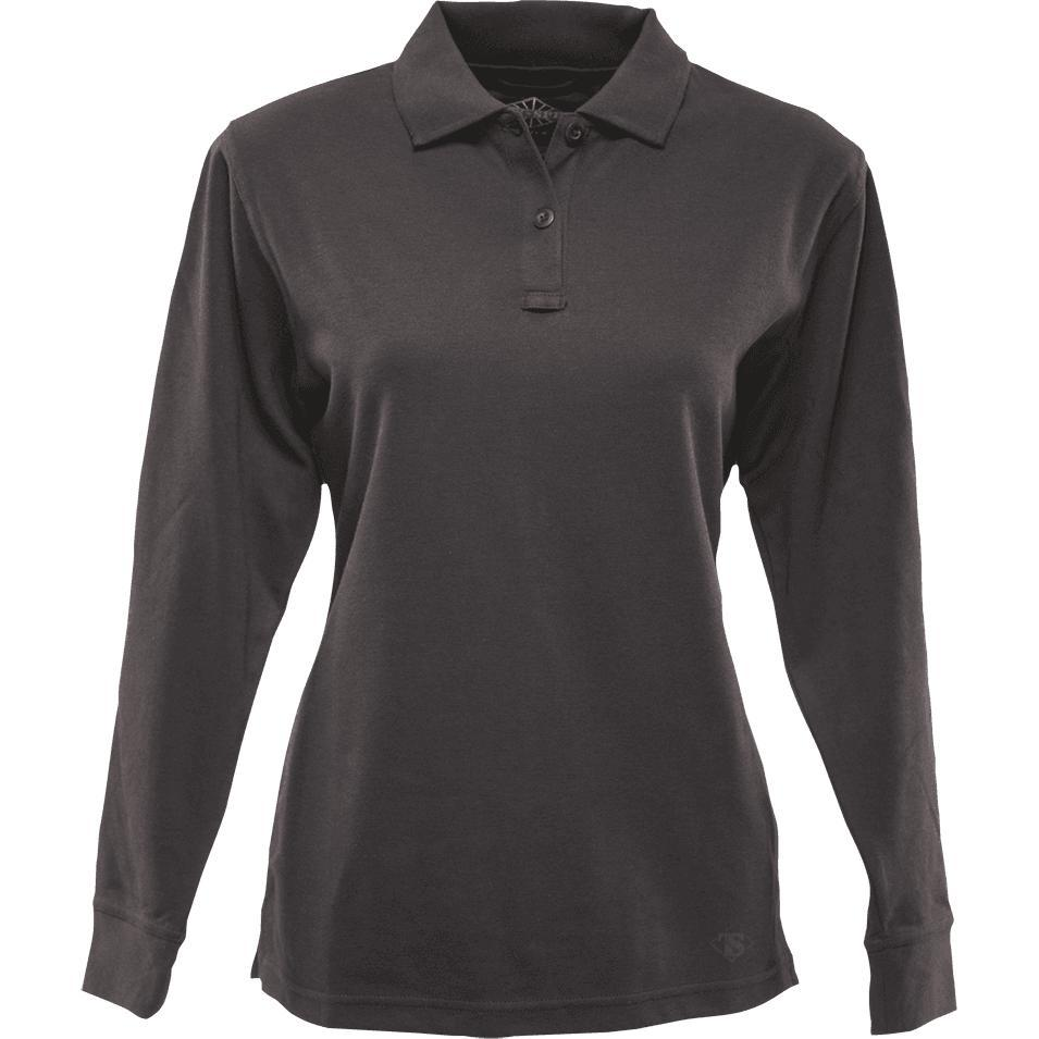 Black; Tru-Spec LS Original Polo for Women - HCC Tactical