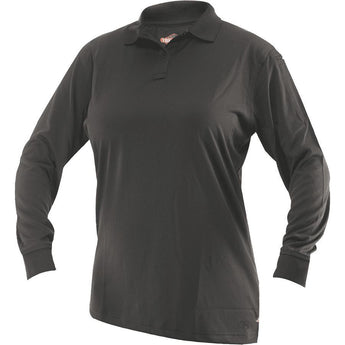 Black; Tru-Spec LS Performance Polo for Women - HCC Tactical