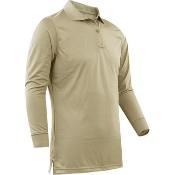 Silver Tan; Tru-Spec LS Performance Polo for Women - HCC Tactical