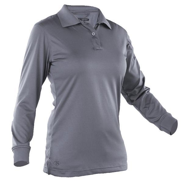 Steel Gray; Tru-Spec LS Performance Polo for Women - HCC Tactical