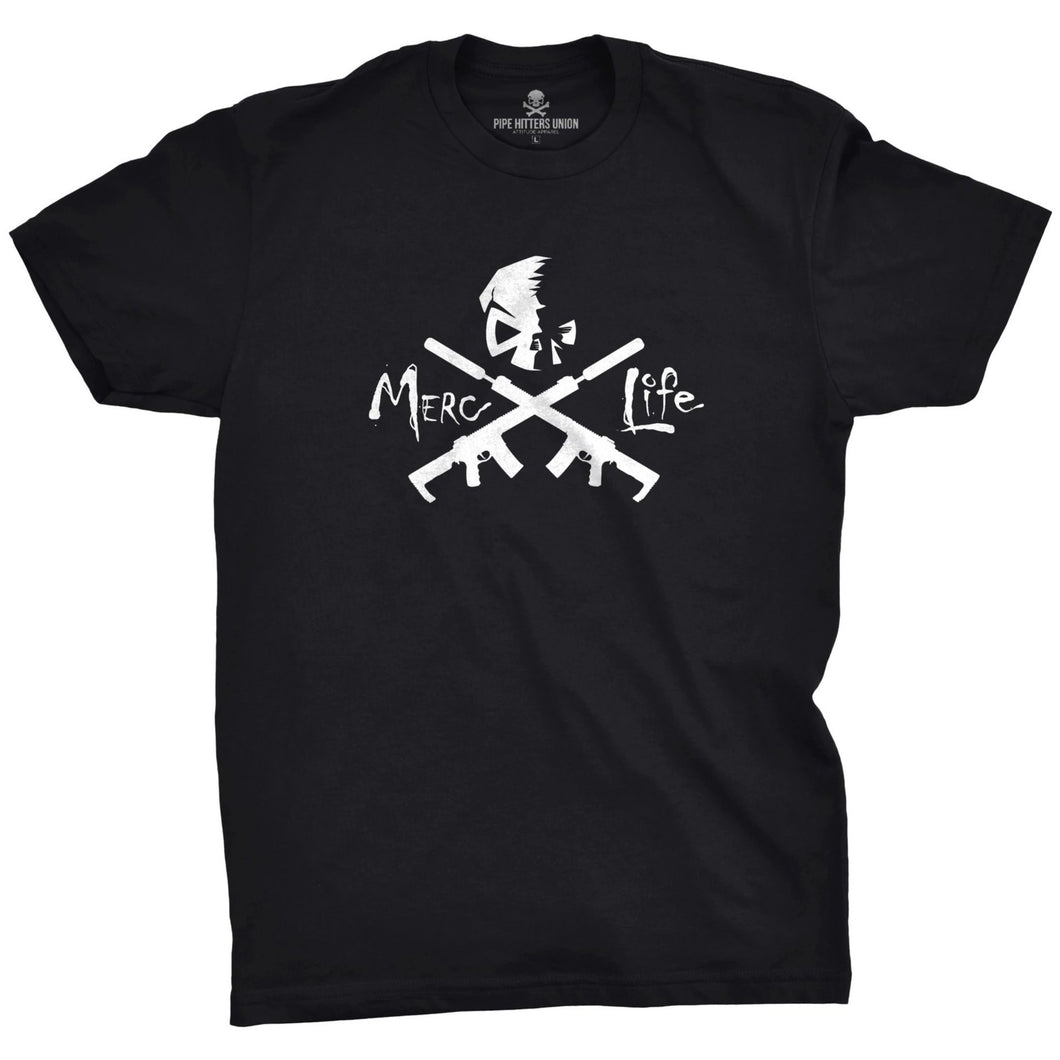 Black; Pipe Hitters Union Merc Life Tee - HCC Tactical