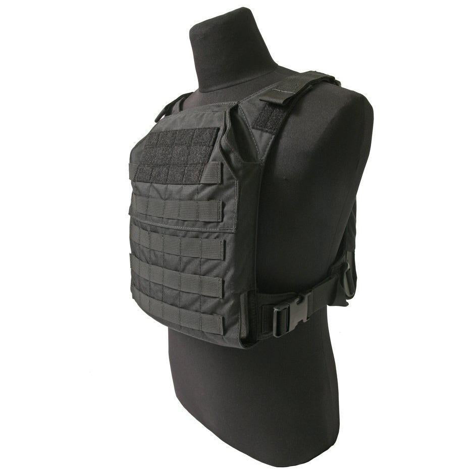 Black; Grey Ghost Gear Minimalist Plate Carrier - HCC Tactical