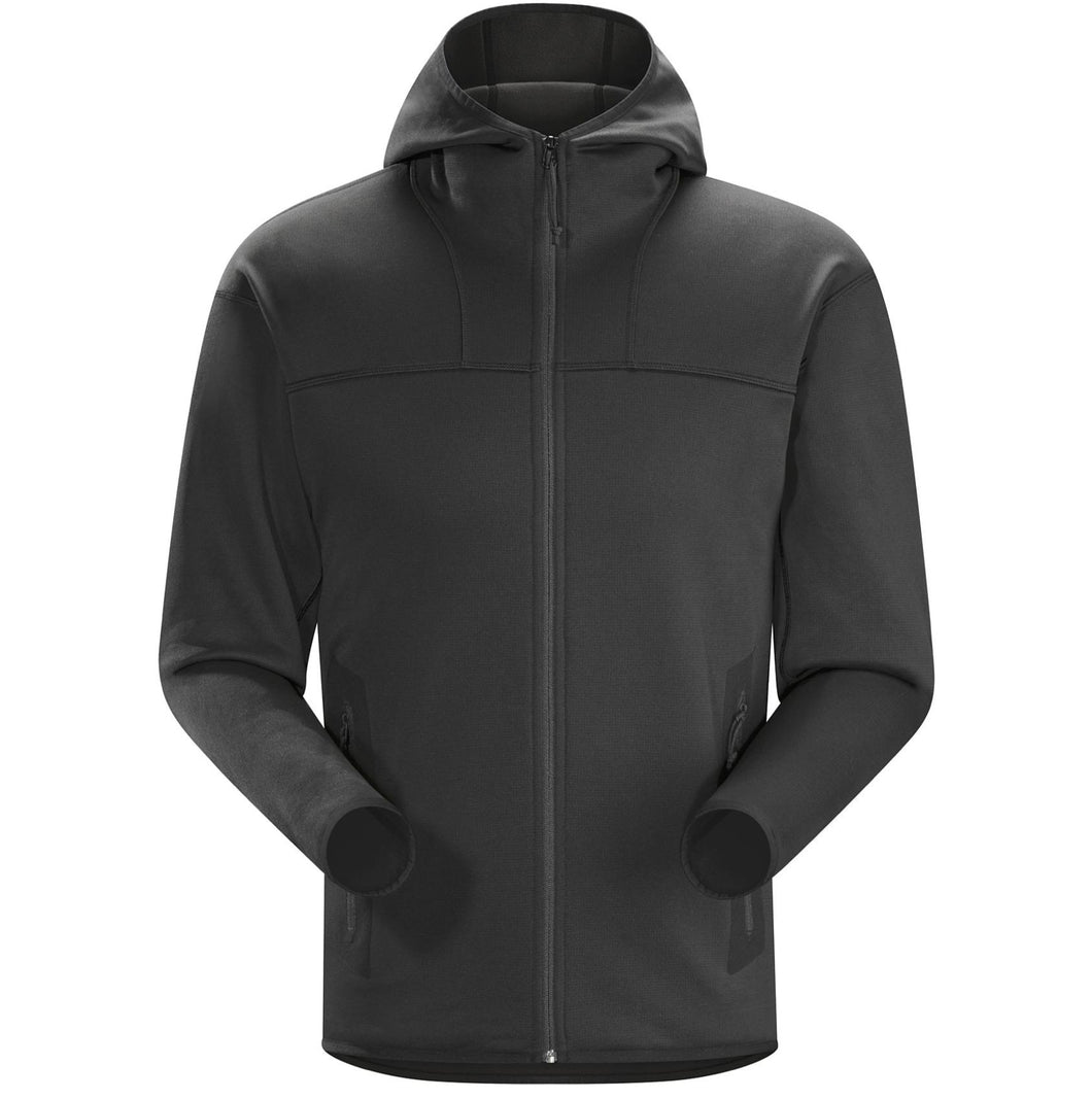 Black; Arc'teryx LEAF Naga Hoody Full Zip Men's - HCC Tactical
