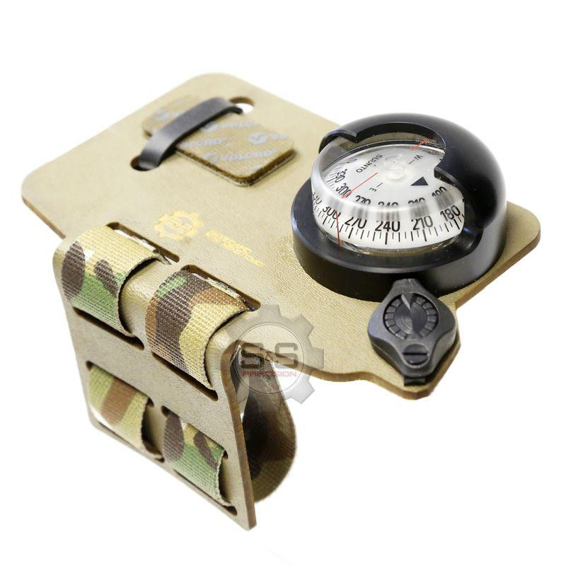 Tan; S&S Precision NavBoard Stubby with Compass - HCC Tactical