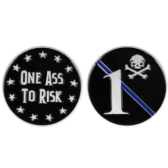 Stainless; Pipe Hitters Union One Ass To Risk Challenge Coin - HCC Tactical