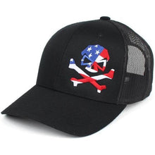 Black; Pipe Hitters Union Patriot Trucker Hat - HCC Tactical