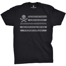 Black / Gray; Pipe Hitters Union People Sleep - Flag Tee - HCC Tactical