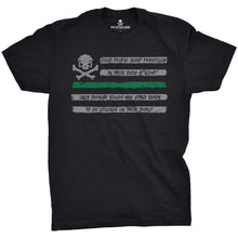 Black / Green; Pipe Hitters Union People Sleep - Flag Tee - HCC Tactical