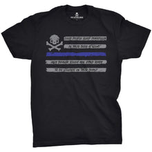 Black / Blue; Pipe Hitters Union People Sleep - Flag Tee - HCC Tactical