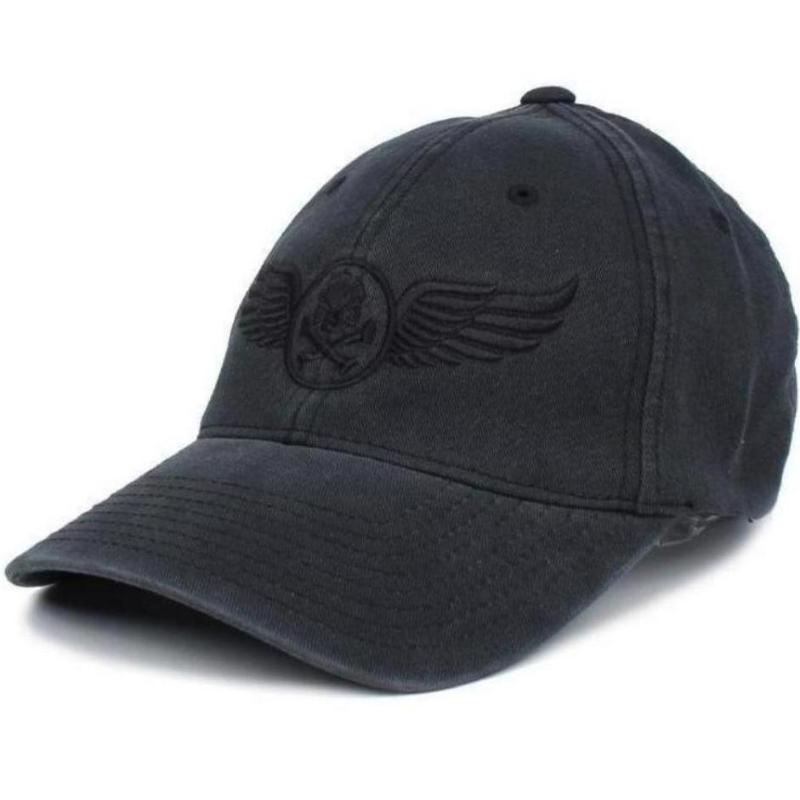 Black / Black; Pipe Hitters Union Wings Flexifit Hat - HCC Tactical
