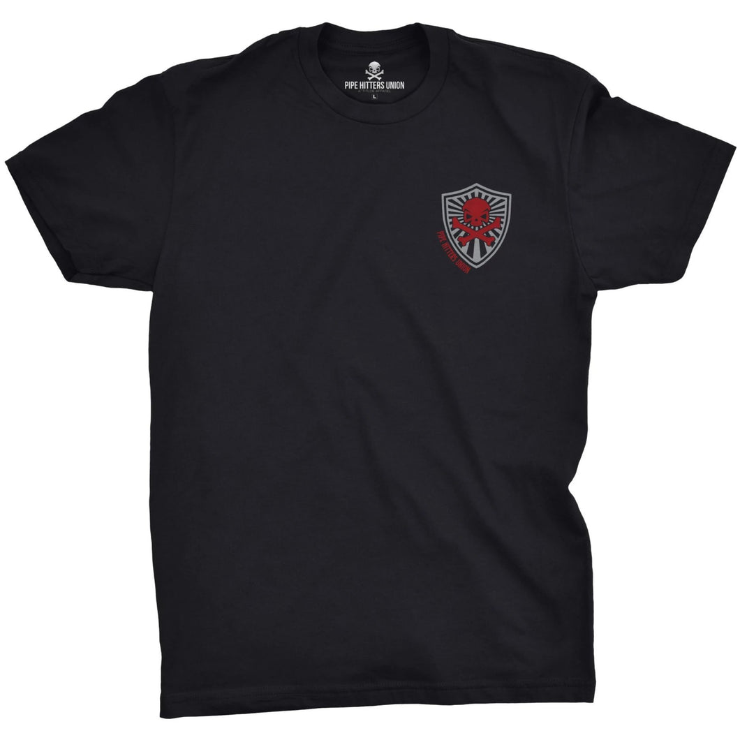 Black; Pipe Hitters Union Psalm 144.1 Tee - HCC Tactical