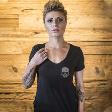 alt - Black; Pipe Hitters Union Psalm 55:15 (V-Neck) - HCC Tactical