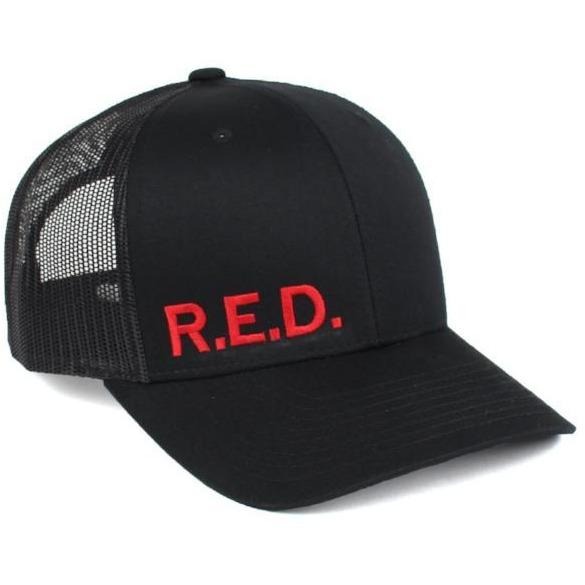 Black / Red; Pipe Hitters Union R.E.D. Trucker Hat - HCC Tactical
