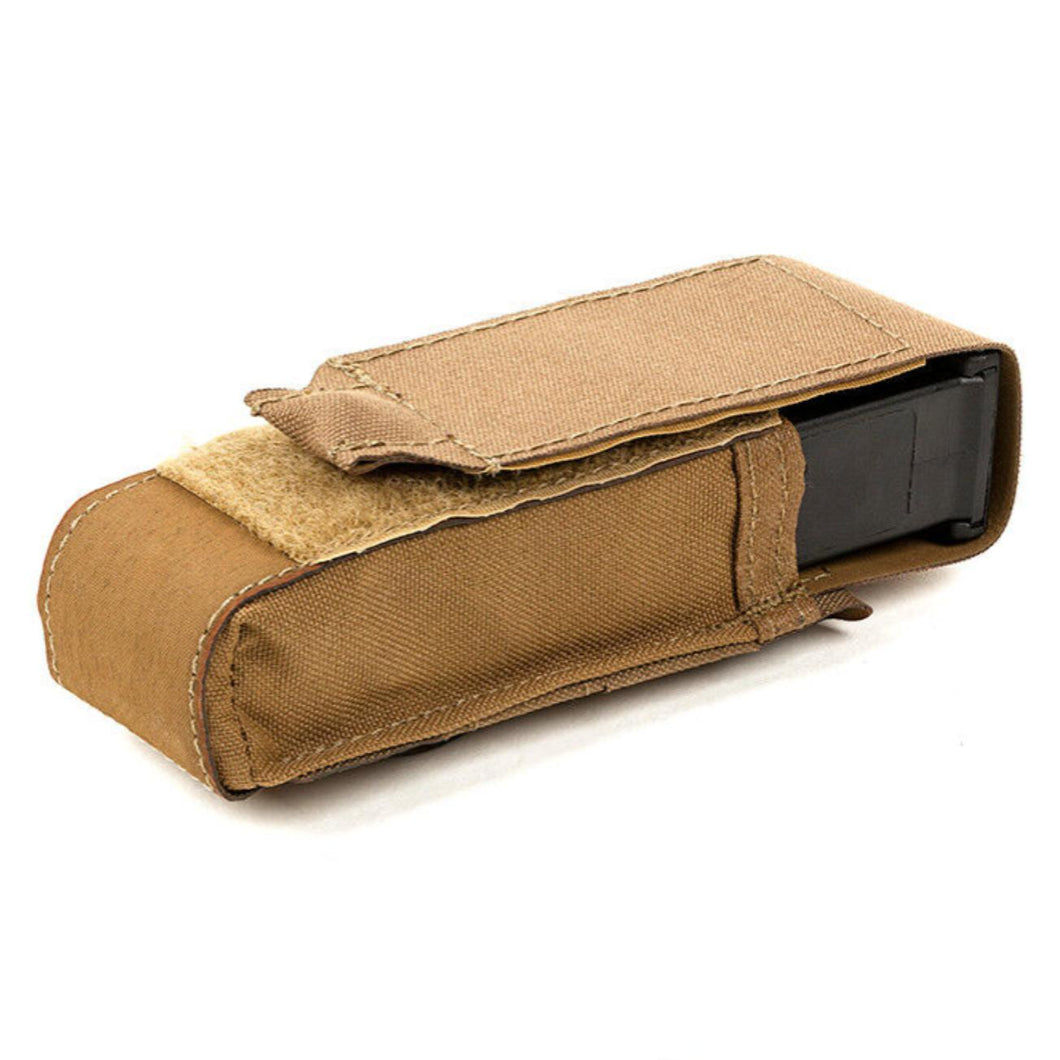 Coyote Brown; Blue Force Gear Single Pistol Mag Pouch Profile RG Close - HCC Tactical