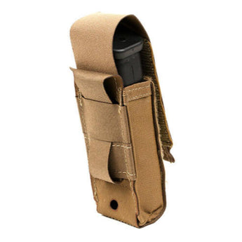 alt - Coyote Brown; Blue Force Gear Single Pistol Mag Pouch Profile RG Close - HCC Tactical