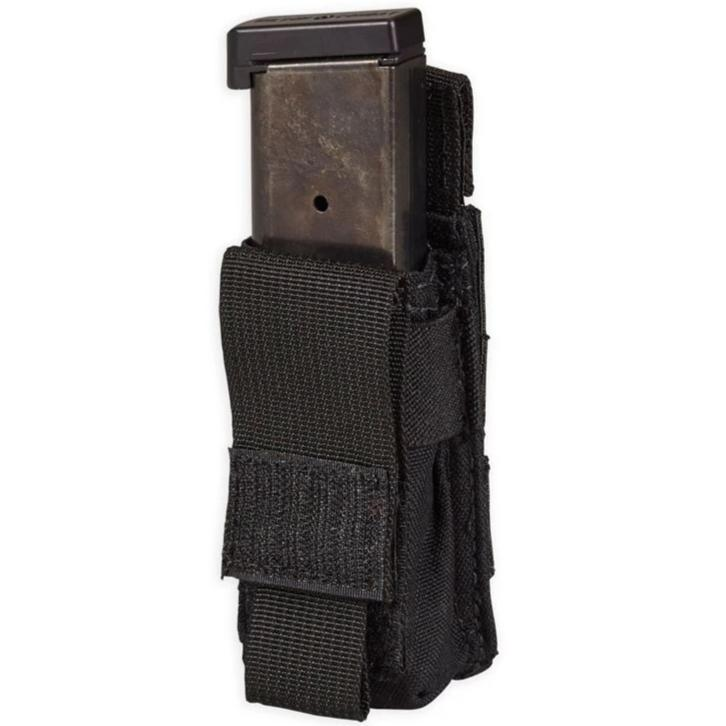 Black; Chase Tactical Single Pistol Mag Pouch - HCC Tactical