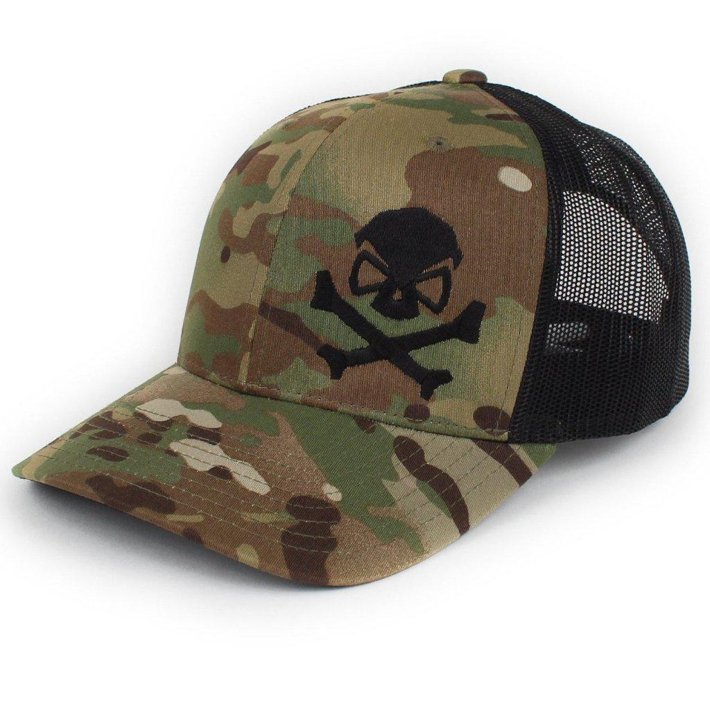MultiCam; Pipe Hitters Union Skull and Bones Trucker Hat - HCC Tactical