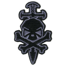 Black / Gray; Pipe Hitters Union Skull and Sword - HCC Tactical