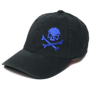 Black / Blue; Pipe Hitters Union Skull & Bones Flexfit Hat - HCC Tactical