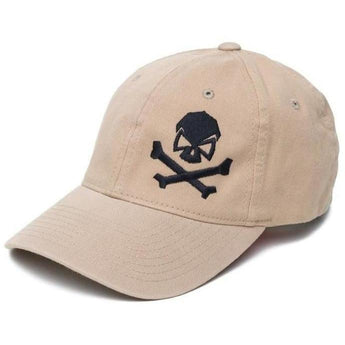 Khaki; Pipe Hitters Union Skull & Bones Flexfit Hat - HCC Tactical