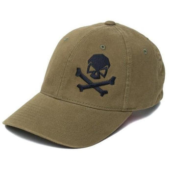 Olive; Pipe Hitters Union Skull & Bones Flexfit Hat - HCC Tactical