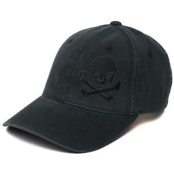 Black; Pipe Hitters Union Skull & Bones Flexfit Hat - HCC Tactical