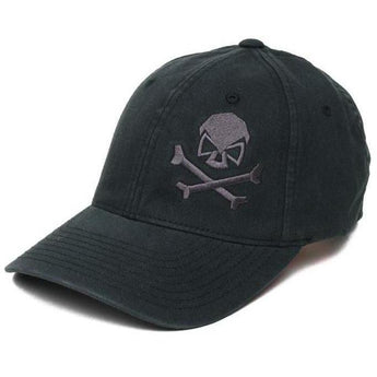 Black / Gray; Pipe Hitters Union Skull & Bones Flexfit Hat - HCC Tactical