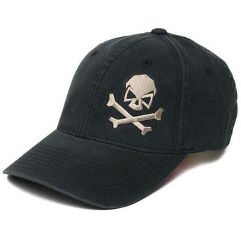 Black / Pewter; Pipe Hitters Union Skull & Bones Flexfit Hat - HCC Tactical