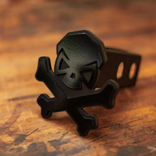 alt - Black; Pipe Hitters Union Skull & Bones Trailer Hitch Cover - HCC Tactical