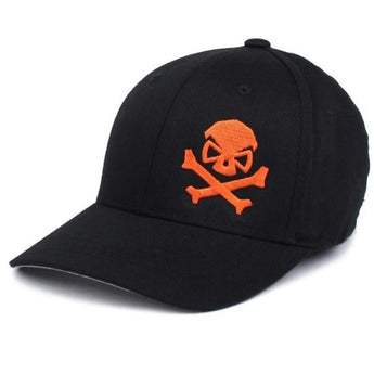 Black/Orange; PHU Skull & Cross Bones Hat - Youth - HCC Tactical