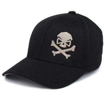 Black/Pewter;  PHU Skull & Cross Bones Hat - Youth - HCC Tactical