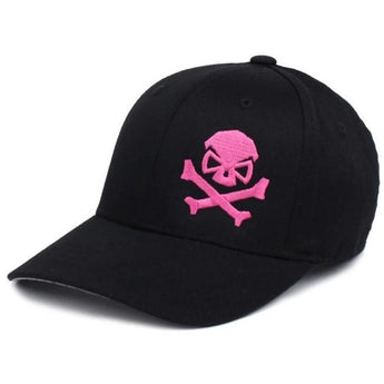 Black/Pink; PHU Skull & Cross Bones Hat - Youth - HCC Tactical