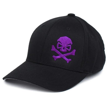Black/Purple; PHU Skull & Cross Bones Hat - Youth - HCC Tactical