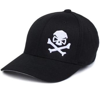 Black/White; PHU Skull & Cross Bones Hat - Youth - HCC Tactical