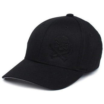 Black/Black; PHU Skull & Cross Bones Hat - Youth - HCC Tactical