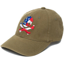 Olive; Pipe Hitters Union Skull Flag Flexfit Hat - HCC Tactical