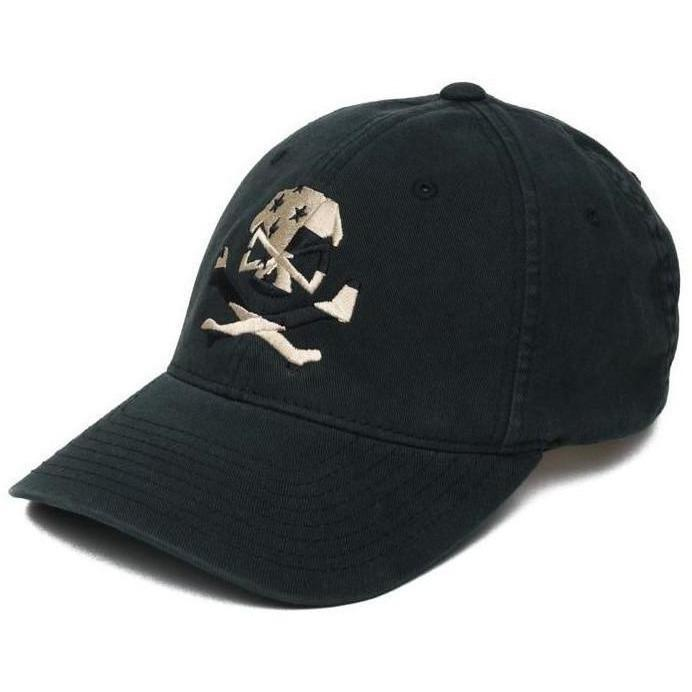 Black; Pipe Hitters Union Skull Flag (Subdued) Flexfit Hat - HCC Tactical