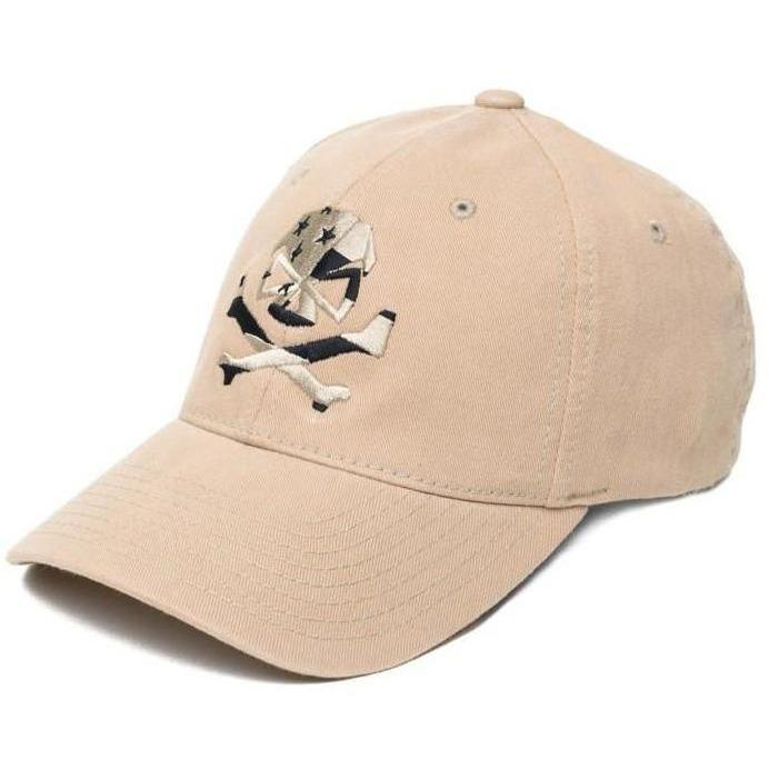 Khaki; Pipe Hitters Union Skull Flag (Subdued) Flexfit Hat - HCC Tactical